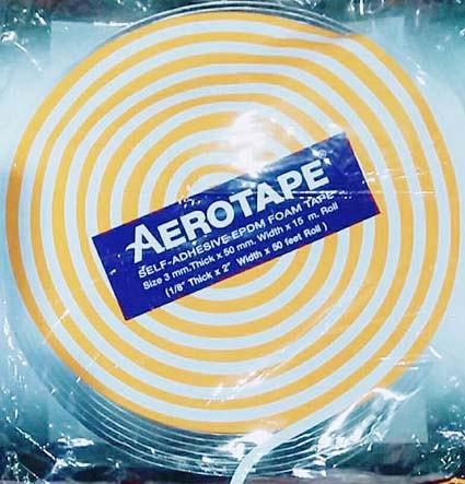 AEROTAPE ฉนวนแผ่นม้วนมีกาวในตัว หน้ากว้าง 2 นิ้ว x ความยาว 50 ฟุต หรือ 15 เมตร (หนา 1/8 นิ้ว) (Default)